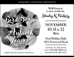 Bird Songs in Autumn Leaves: AMANDA LISMAN, Brian Linds, Jacob Richmond, Iris Macgregor Bannerman, Clayton Jevne, Naomi Simpson, Stanley K. Freiberg, Julian Cervello @ Paul Phillips Hall Nov 10 2017 - Dec 9th @ Paul Phillips Hall