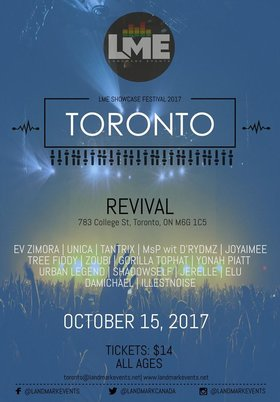 Landmark Events Showcase Festival: Zoubi Arros @ The Revival Bar Oct 15 2017 - Aug 24th @ The Revival Bar