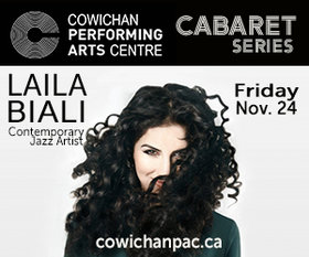 Cabaret Series: Laila Biali @ Cowichan Performing Arts Centre Nov 24 2017 - Dec 9th @ Cowichan Performing Arts Centre