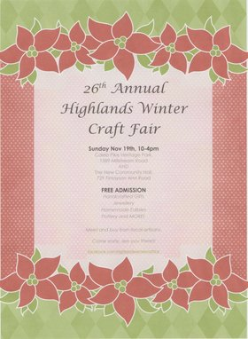 Highlands Winter Craft Fair @ Caleb Pike House Nov 19 2017 - Dec 9th @ Caleb Pike House