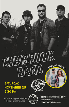 Chris Buck Band, The County Line @ The Mary Winspear Centre Nov 25 2017 - Dec 9th @ The Mary Winspear Centre