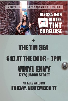 Alyssa Jean Klazek, The Tin Sea, Julio Lopezhiler @ Vinyl Envy Nov 17 2017 - Dec 14th @ Vinyl Envy