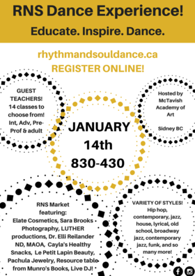 RNS Dance Experience: RNS Dance Inc, Guest Teachers @ McTavish Academy of Art Jan 14 2018 - Jan 22nd @ McTavish Academy of Art