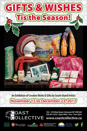 Gifts and Wishes Show 2017 @ Coast Collective Art Centre, 103-318 Wale Road Nov 15 2017 - Dec 15th @ Coast Collective Art Centre, 103-318 Wale Road
