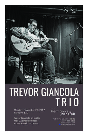 The Trevor Giancola Trio @ Hermann