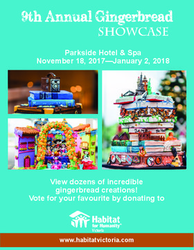 9th Annual Gingerbread Showcase @ The Parkside Hotel & Spa Nov 18 2017 - Dec 14th @ The Parkside Hotel & Spa