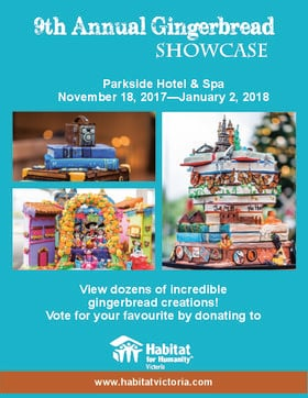 9th Annual Gingerbread Showcase @ The Parkside Hotel & Spa Nov 18 2017 - Dec 9th @ The Parkside Hotel & Spa