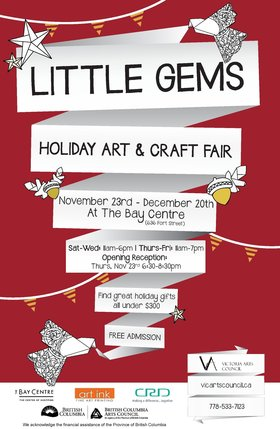 Little Gems Holiday Art & Craft Fair @ Fort Street Gallery Nov 23 2017 - Dec 9th @ Fort Street Gallery
