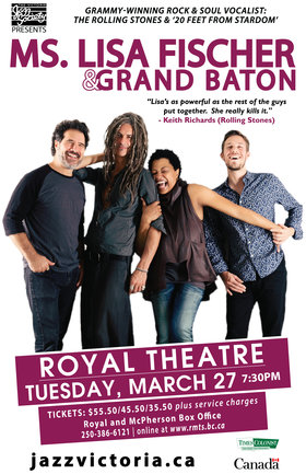 Ms. Lisa Fischer & Grand Baton @ Royal Theatre Mar 27 2018 - Dec 16th @ Royal Theatre