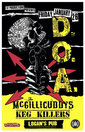 The Return of: D.O.A., The McGillicuddys, The Keg Killers @ Logan
