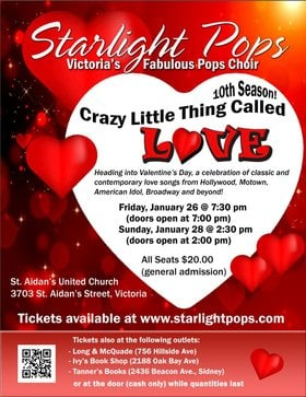 "Starlight Pops presents ""Crazy Little Thing Called Love"": Starlight Pops  @ St. Aidan"