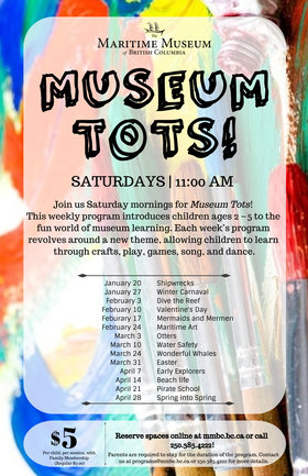 Museum Tots! @ Maritime Museum of BC Jan 20 2018 - Jan 22nd @ Maritime Museum of BC
