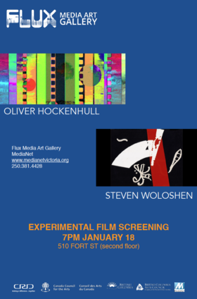 Experimental Films by Hockenhull & Woloshen: Oliver Hockenhull, Steven Woloshen @ FLUX MEDIA GALLERY Jan 18 2018 - Jan 16th @ FLUX MEDIA GALLERY