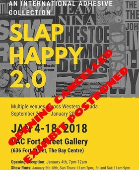 Slap Happy 2.0: Urban Art Showcase @ Victoria Arts Council Jan 4 2018 - Jan 22nd @ Victoria Arts Council