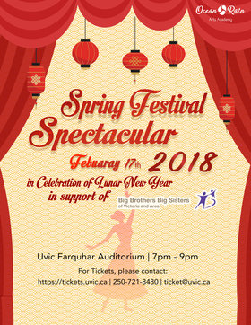 Spring Festival Spectacular Show-Charity Event @ The Farquhar at UVic Feb 17 2018 - Jan 20th @ The Farquhar at UVic