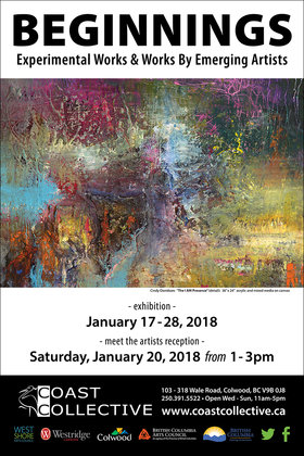 Beginnings @ Coast Collective Art Centre Jan 17 2018 - Jan 16th @ Coast Collective Art Centre