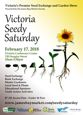 Victoria Seedy Saturday @ Carson Hall at the Victoria Conference Centre Feb 17 2018 - Feb 22nd @ Carson Hall at the Victoria Conference Centre