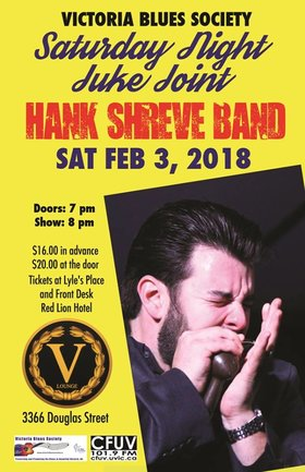 Saturday Night Juke Joint: Hank Shreve Band @ V-lounge Feb 3 2018 - Jan 22nd @ V-lounge