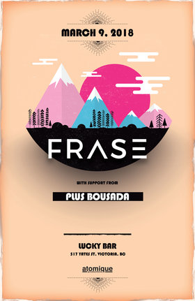 FRASE, BOUSADA @ Lucky Bar Mar 9 2018 - Dec 12th @ Lucky Bar