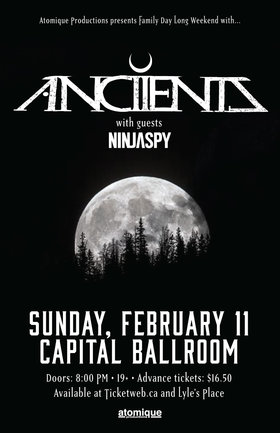 Anciients, Ninjaspy, BuzzArd @ Capital Ballroom Feb 11 2018 - Feb 23rd @ Capital Ballroom