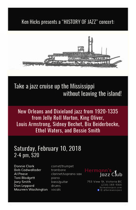 A Jazz Cruise Up The Mississippi: Donnie Clark & his Victoria Allstars @ Hermann