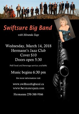 Swiftsure Big Band: with Miranda Sage @ Hermann