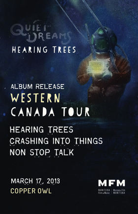 Early Show with: Hearing Trees, Crashing Into Things, Non Stop Talk @ Copper Owl Mar 17 2018 - Dec 15th @ Copper Owl