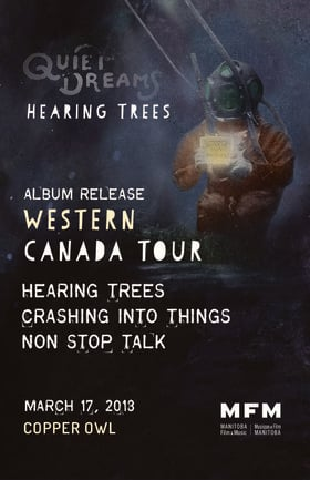 Early Show with: Hearing Trees, Crashing Into Things, Non Stop Talk @ Copper Owl Mar 17 2018 - Dec 14th @ Copper Owl