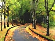 Autumn Lane by  Neil A Fatin