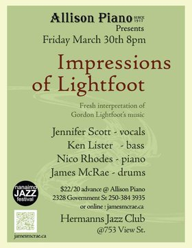 Impressions of Lightfoot: James McRae , Jennifer Scott, Nico Rhodes, Ken Lister @ Hermann