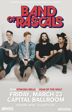 Band of Rascals, Stinging Belle, Year of the Wolf @ Capital Ballroom Mar 23 2018 - Dec 18th @ Capital Ballroom