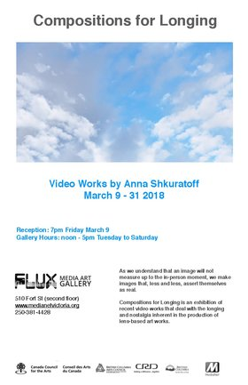 Compositions for Longing: Video Works by Anna Shkuratoff @ FLUX MEDIA GALLERY Mar 9 2018 - Dec 11th @ FLUX MEDIA GALLERY