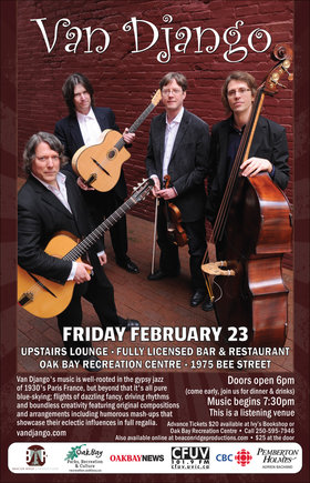 Van Django @ Upstairs Lounge - Oak Bay Recreation Centre Feb 23 2018 - Feb 19th @ Upstairs Lounge - Oak Bay Recreation Centre
