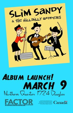 Slim Sandy and the Hillbilly Boppers @ Northern Quarter Mar 9 2018 - Mar 23rd @ Northern Quarter
