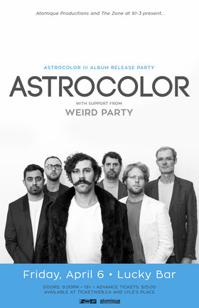 Astrocolor, Weird Party @ Lucky Bar Apr 6 2018 - Dec 12th @ Lucky Bar