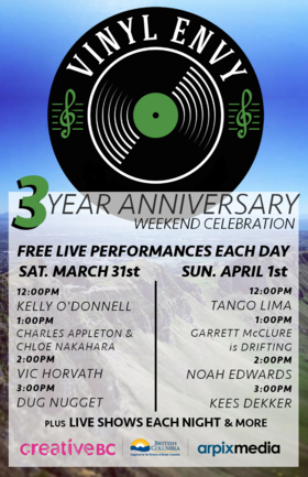 Vinyl Envy - 3 Year Anniversary Weekend: Ananke, Charles James Appleton, Chloe Nakahara, Vic Horvath, Dug Nugget @ Vinyl Envy Mar 31 2018 - Dec 19th @ Vinyl Envy