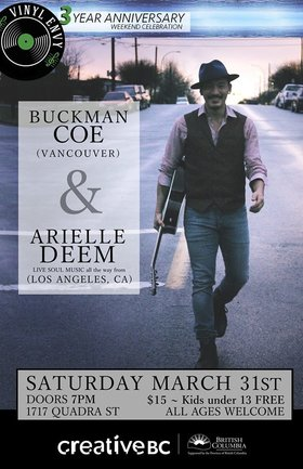 Buckman Coe, Arielle Deem @ Vinyl Envy Mar 31 2018 - Dec 19th @ Vinyl Envy