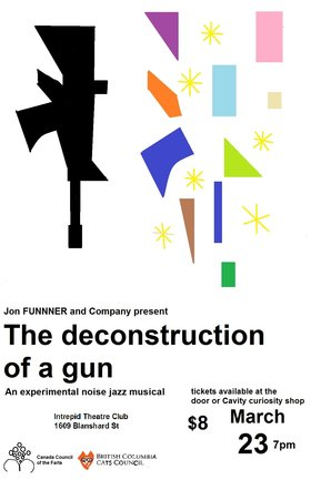 The deconstrution of a gun: an experimental noise jazz musical @ Intrepid Theatre Mar 23 2018 - Dec 18th @ Intrepid Theatre
