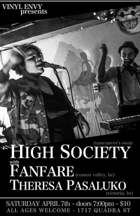 High Society, Fanfare, Theresa Pasaluko @ Vinyl Envy Apr 7 2018 - Dec 19th @ Vinyl Envy