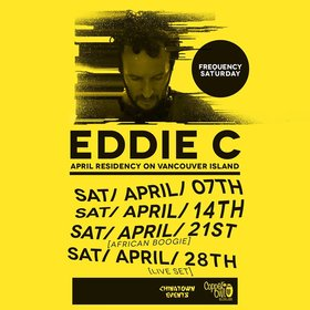 Frequency Saturdays : April with: Eddie C live,  CtE resident DJs @ Copper Owl Apr 28 2018 - Dec 13th @ Copper Owl