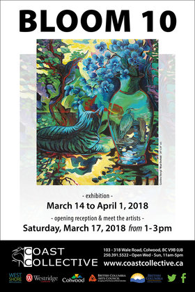 Bloom 10 @ Coast Collective Art Centre Mar 14 2018 - Dec 14th @ Coast Collective Art Centre
