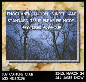Bl00m, standard issue pleasure model, Sunset Lane, emochanel, Featured Flavour @ Subculture Club Mar 24 2018 - Dec 19th @ Subculture Club