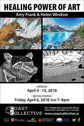 Healing Power of Art: Helen Windsor and Amy Frank @ Coast Collective Art Centre Apr 4 2018 - Dec 19th @ Coast Collective Art Centre