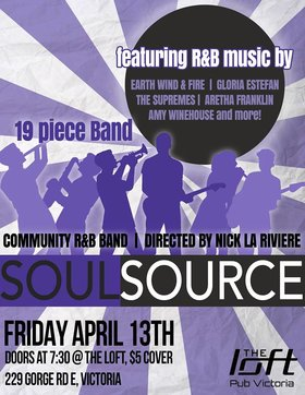Soul Source: Soul Source  @ The Loft (Victoria) Apr 13 2018 - Jul 23rd @ The Loft (Victoria)