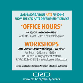 CRD Arts Service in the Square - 'Office Hours' @ Victoria's Spirit Square (in Centennial Square) Apr 4 2018 - Jan 22nd @ Victoria's Spirit Square (in Centennial Square)