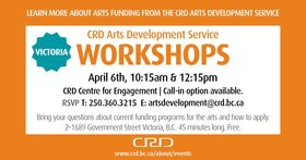 Arts Service Grants Workshop - 10:15 & 12:15 @  Apr 6 2018 - Dec 19th @