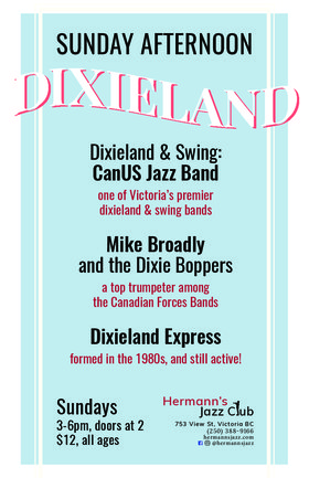 Dixieland & Swing: CanUS Jazz Band: & Guest, Jim Armstrong @ Hermann