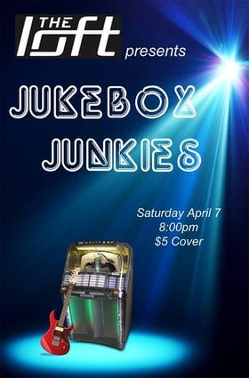 The Jukebox Junkies Live at the Loft @ The Loft (Victoria) Apr 7 2018 - Dec 19th @ The Loft (Victoria)