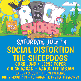 Jesse Roper, The Sheepdogs, Corb Lund @ Rock the Shores Jul 14 2018 - Jan 22nd @ Rock the Shores