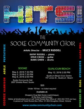 Hits! Sooke Community Choir @ Sooke Community Hall May 5 2018 - Dec 19th @ Sooke Community Hall